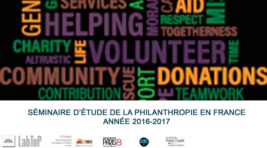 seminaire philanthropie du CRESPPA